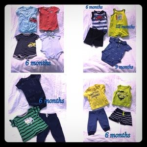 6 month baby boy summer clothing lot